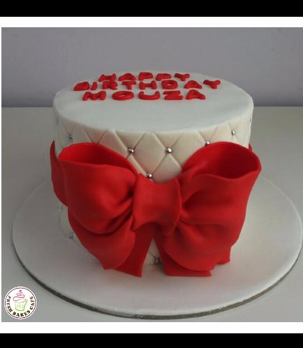 Cake - 1 Tier 03 - Red 1b