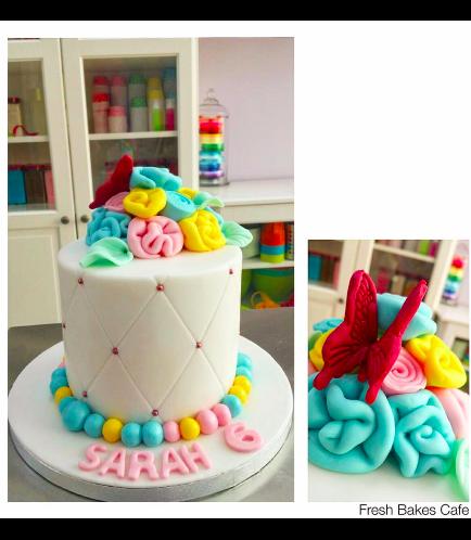 Butterfly Themed Cake - 2D Cake Topper