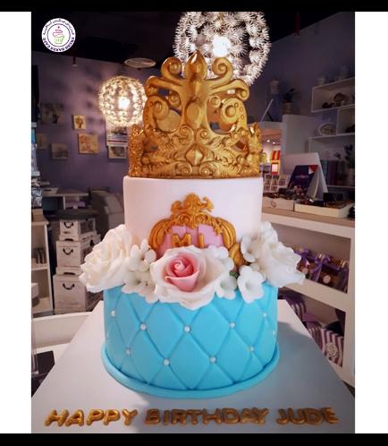 Cake - Flowers 01 - 2 Tier