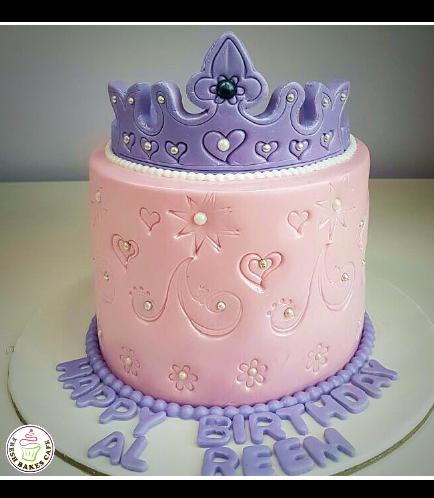 Cake - Fondant Imprint - Purple Crown