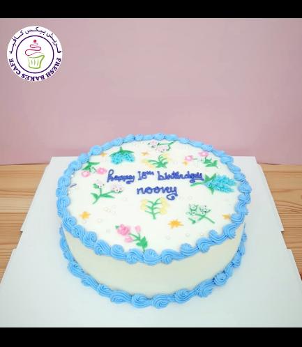 Cake - Flowers - Cream Piping 02