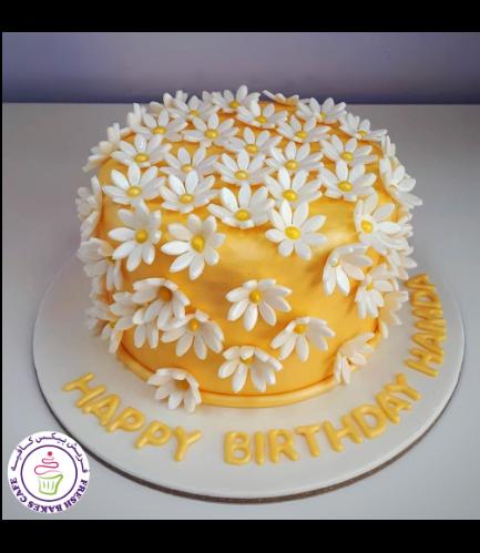 Cake - Daisies - 1 Tier 02