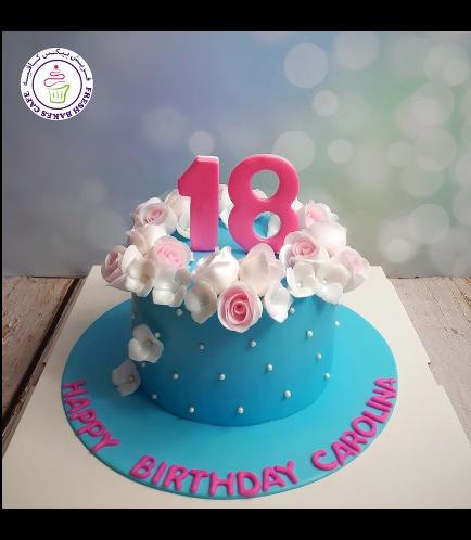 Cake - Flowers - Pearls 01