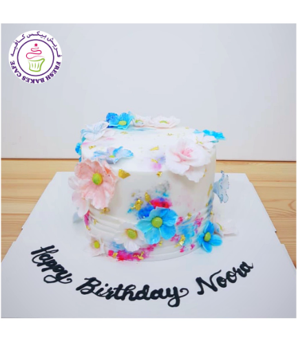 Cake - Flowers - 1 Tier 32a