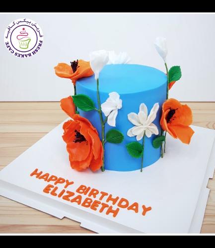 Cake - Flowers - 1 Tier 34