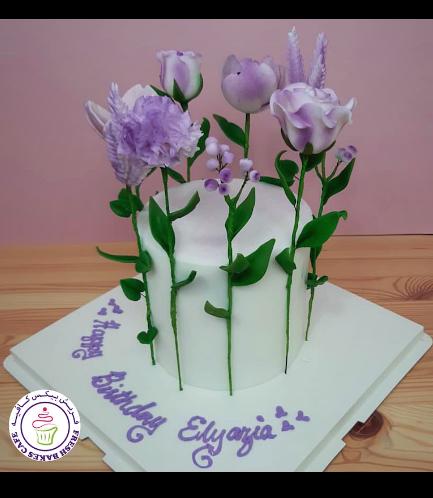 Cake - Flowers - 1 Tier 35