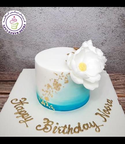 Cake - Peonies - 1 Tier 03