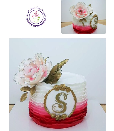 Letter Themed Cake - Peony 02