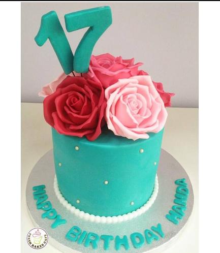 Cake - Roses - 1 Tier 01b