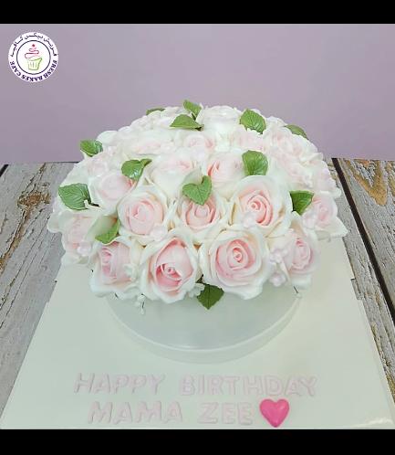 Cake - Roses - 1 Tier 04b