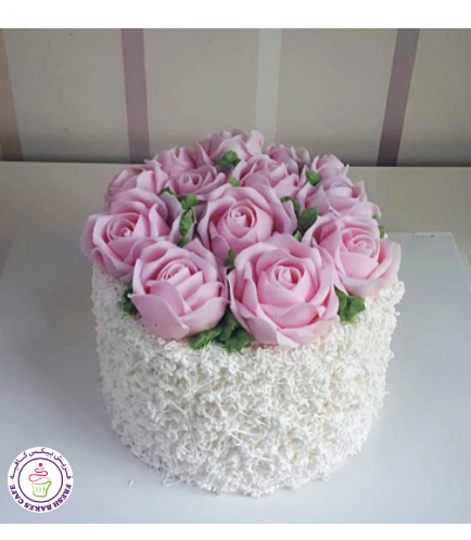 Cake - Roses - 1 Tier 14a