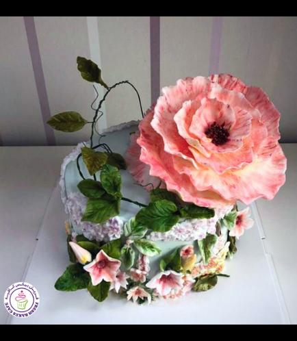 Cake - Flowers - 1 Tier 22b