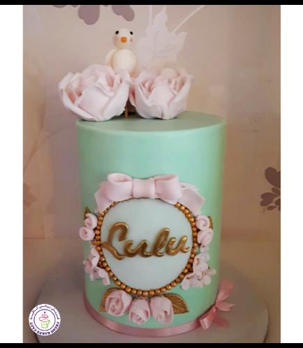 Cake - Flowers - Bird