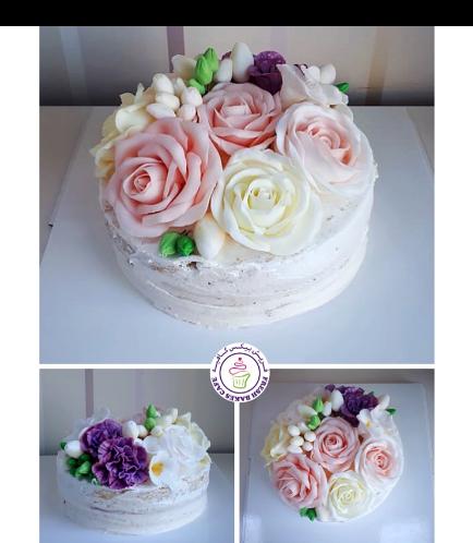 Cake - Flowers - 1 Tier 27