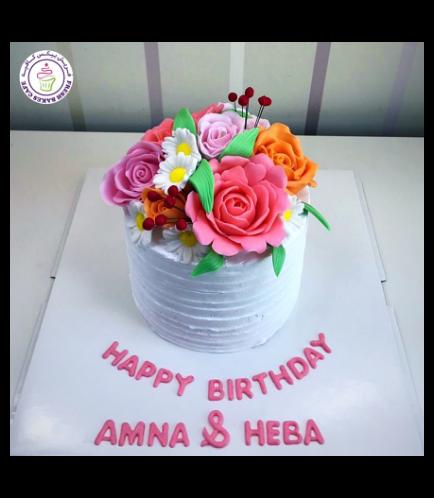 Cake - Flowers - 1 Tier 28