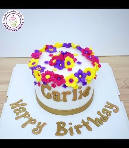 Cake - Flowers - 1 Tier 02c