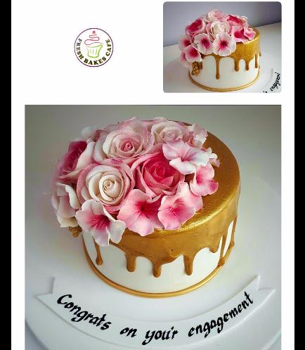 Cake - Flowers - 1 Tier 04