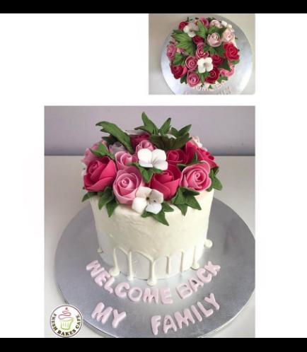 Cake - Flowers - 1 Tier 03