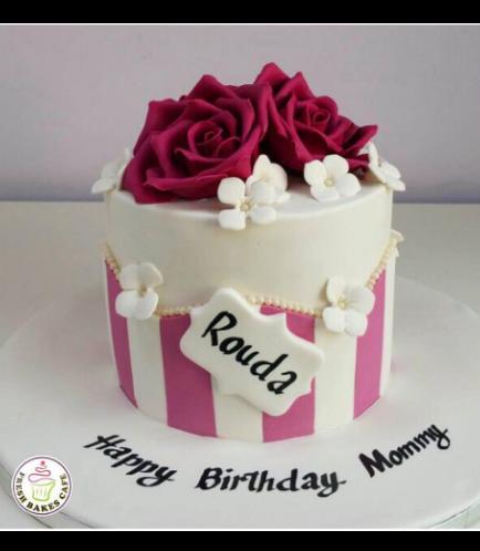 Cake - Flowers - 1 Tier 05