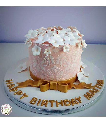 Cake with Flowers 22b