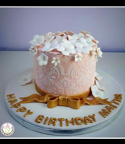 Cake - Flowers - 1 Tier 08b
