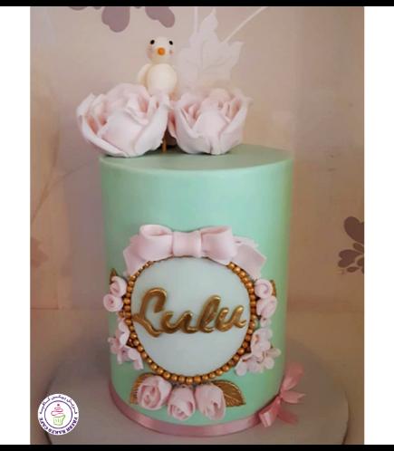 Bird Themed Cake - 3D Cake Topper & Fondant Flowers