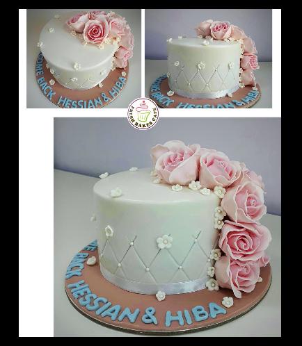 Cake - Flowers - 1 Tier 11b