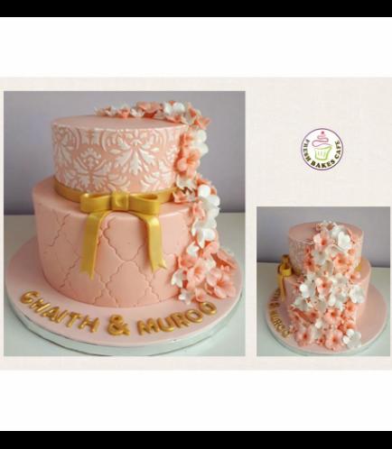 Engagement Themed Cake - Flowers