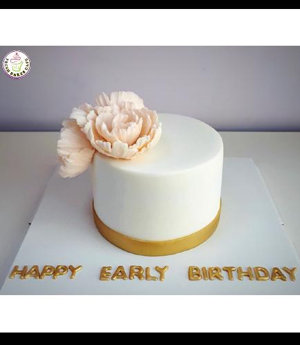 Cake - Peonies - 1 Tier 02