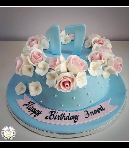 Cake - Flowers - 1 Tier 06