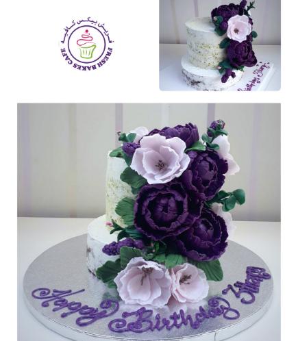 Cake - Flowers - 2 Tier 02