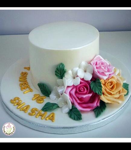 Cake - Flowers - 1 Tier 30