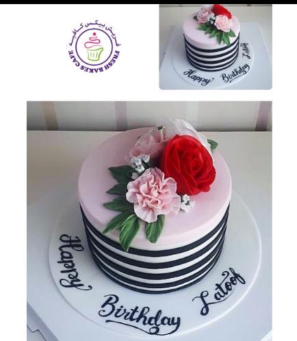 Cake - Flowers - 1 Tier 23