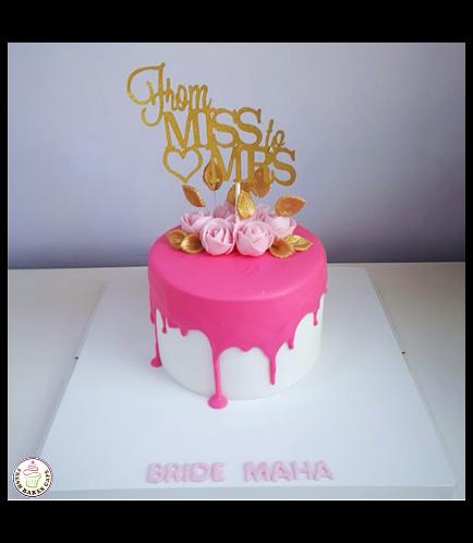 Bridal Shower Themed Cake - Roses