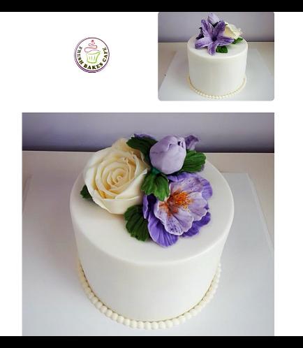 Cake - Flowers - 1 Tier 16