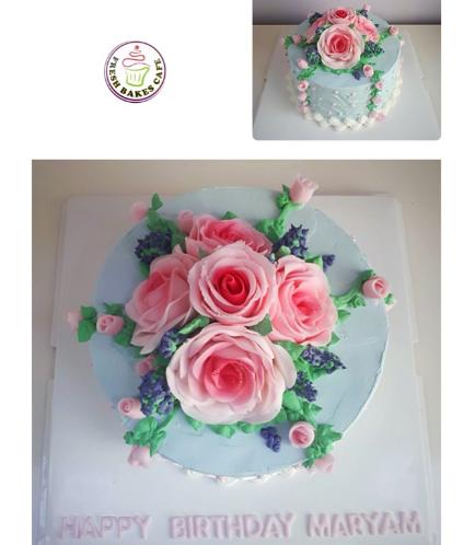 Cake - Flowers - 1 Tier 18
