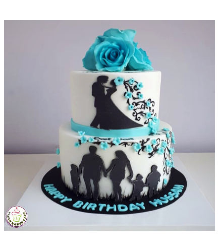Cake with Flowers 42a