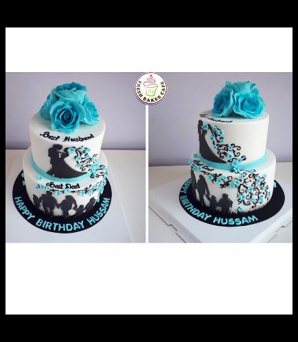 Cake - Flowers - Family 01b