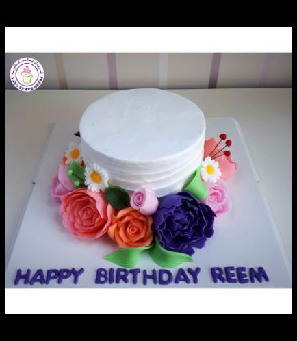 Cake - Flowers - 1 Tier 21