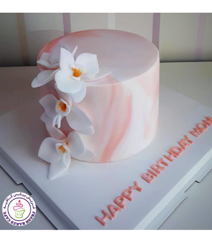 Cake with Fondant Orchids 15