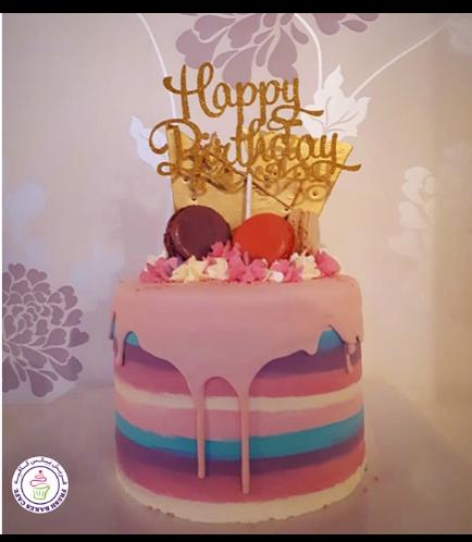 Cake with Macarons 04