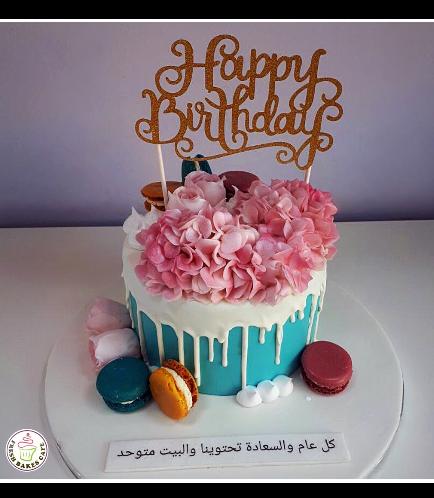 Cake - Flowers & Macarons 01a