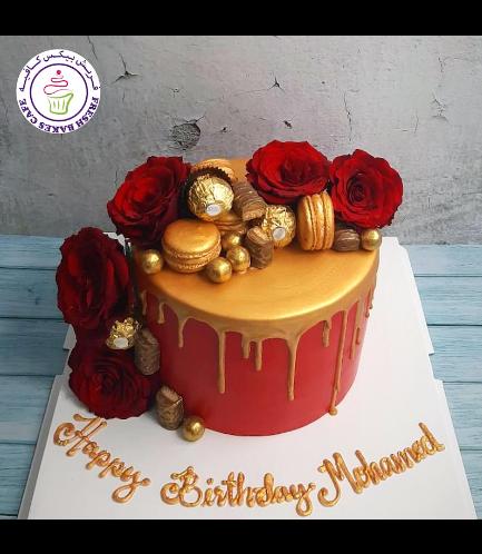 Cake - Roses, Macarons, & Chocolates