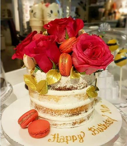 Cake - Roses & Macarons 02