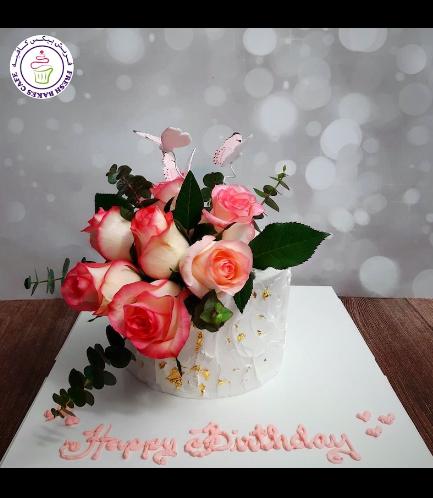 Cake - Roses & Butterflies