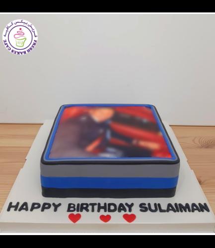 Cake - Photo - Square - Fondant