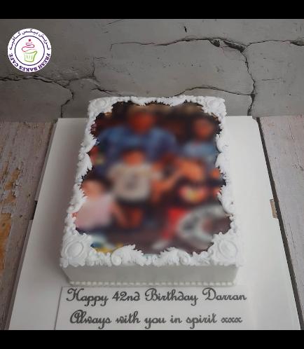 Cake - Photo - Rectangular - Fondant with Frame 02