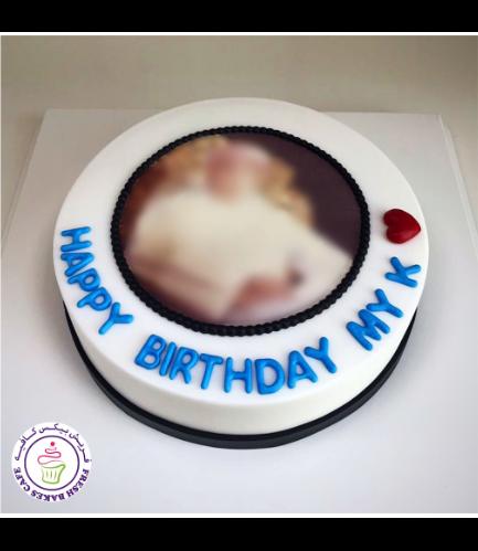 Cake - Photo - Round - Fondant 01