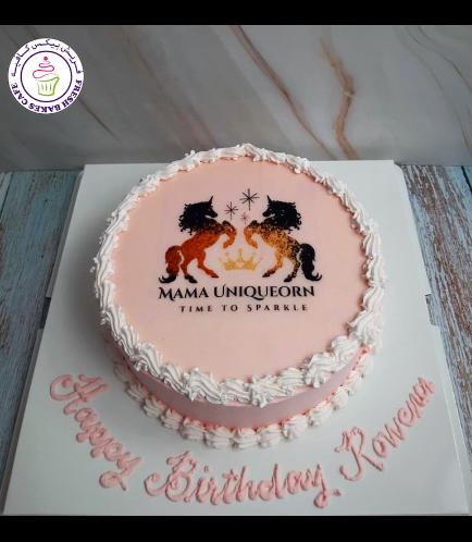 Cake - Picture - Round - Cream 04