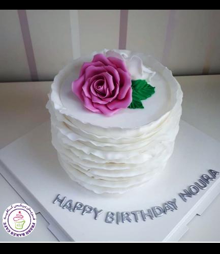 Fondant Cake - Flowers - Roses